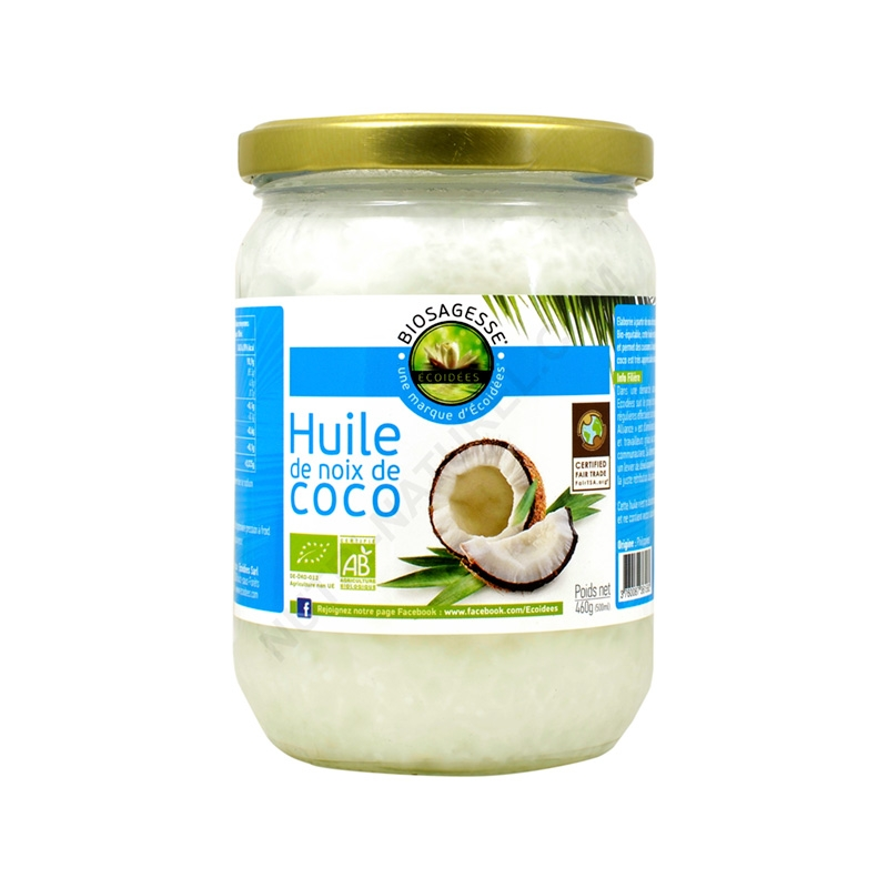 huile de coco vierge bio 500ml nutri naturel. Black Bedroom Furniture Sets. Home Design Ideas