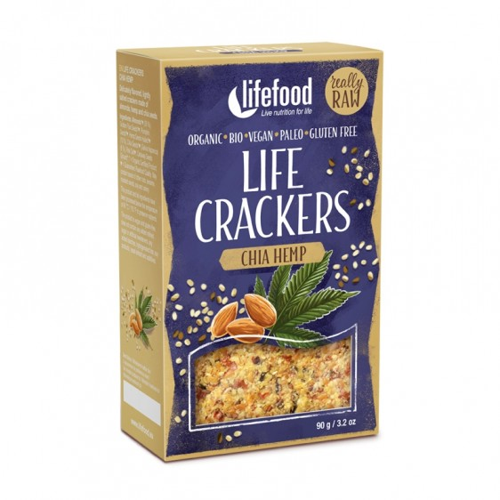 Crackers crus Chanvre chia