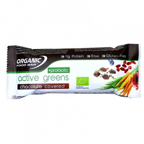 Active greens chocolate covered probiotic 68g