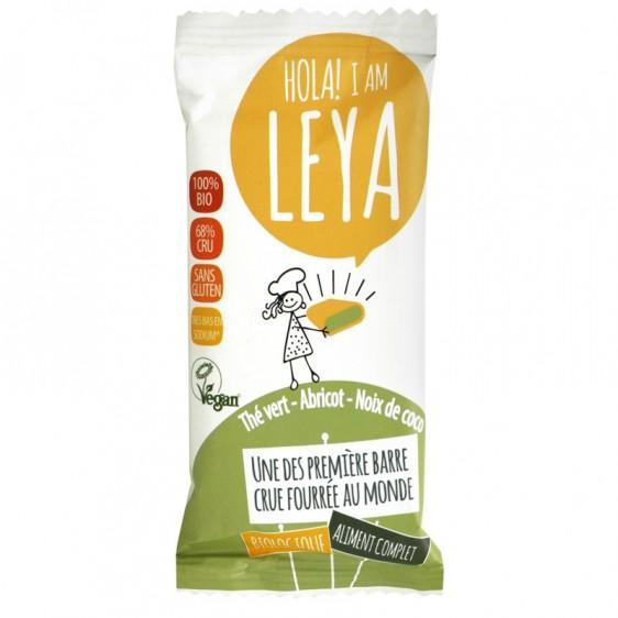 Leya Barre crue fourrée thé vert abricot noix de coco bio 45g