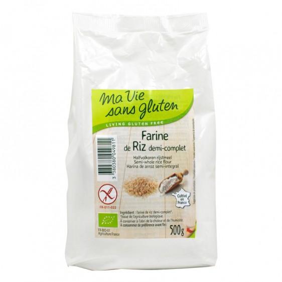 Farine de riz demi complète bio 500g