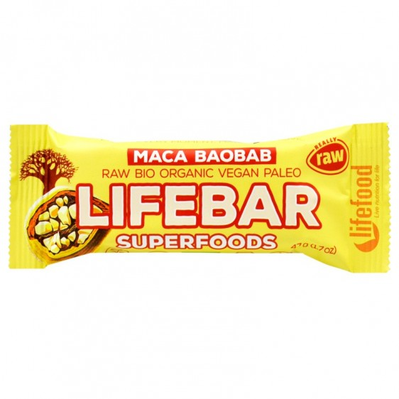 Lifebar Superfoods Maca baobab 47g
