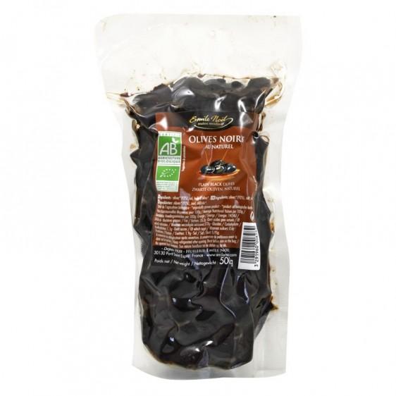 Olives noires au naturel bio 500g