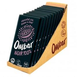 Ombar Noir 100% cacao cru 10x