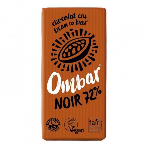 Ombar Noir 72% cacao cru 35g