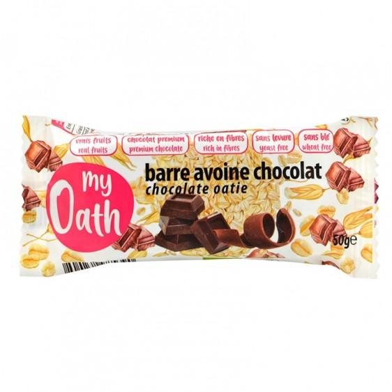 Barre avoine chocolat enrobée de chocolat bio 50g
