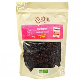 Cranberries des plaines du Saint Laurent bio 550g