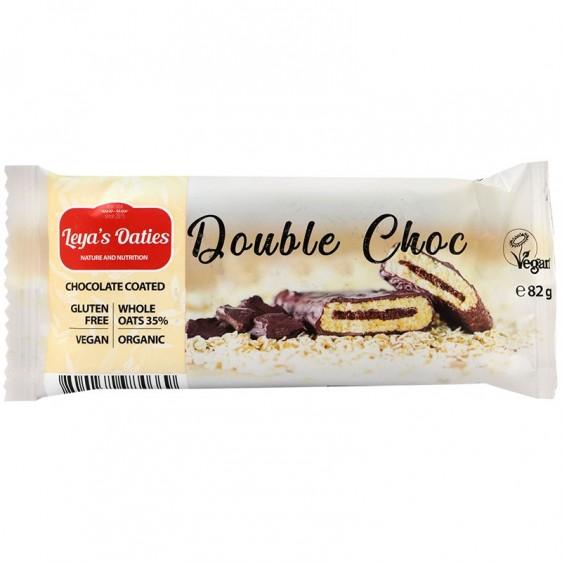 Leya's Oaties Barre fourrée double choc enrobée cacao 82g