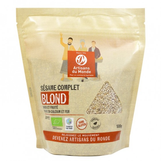 Sésame blond complet bio équitable 500g