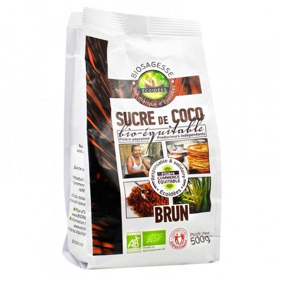 Sucre de coco brun bio équitable 500g