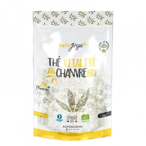 Thé vitalité au chanvre bio 34g