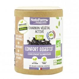 Charbon végétal activé français bio 120 gélules