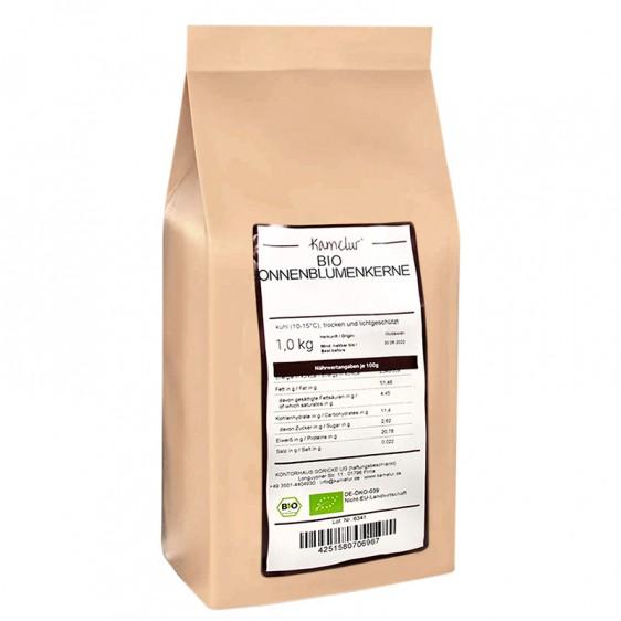 Graines de tournesol décortiquées bio 1kg
